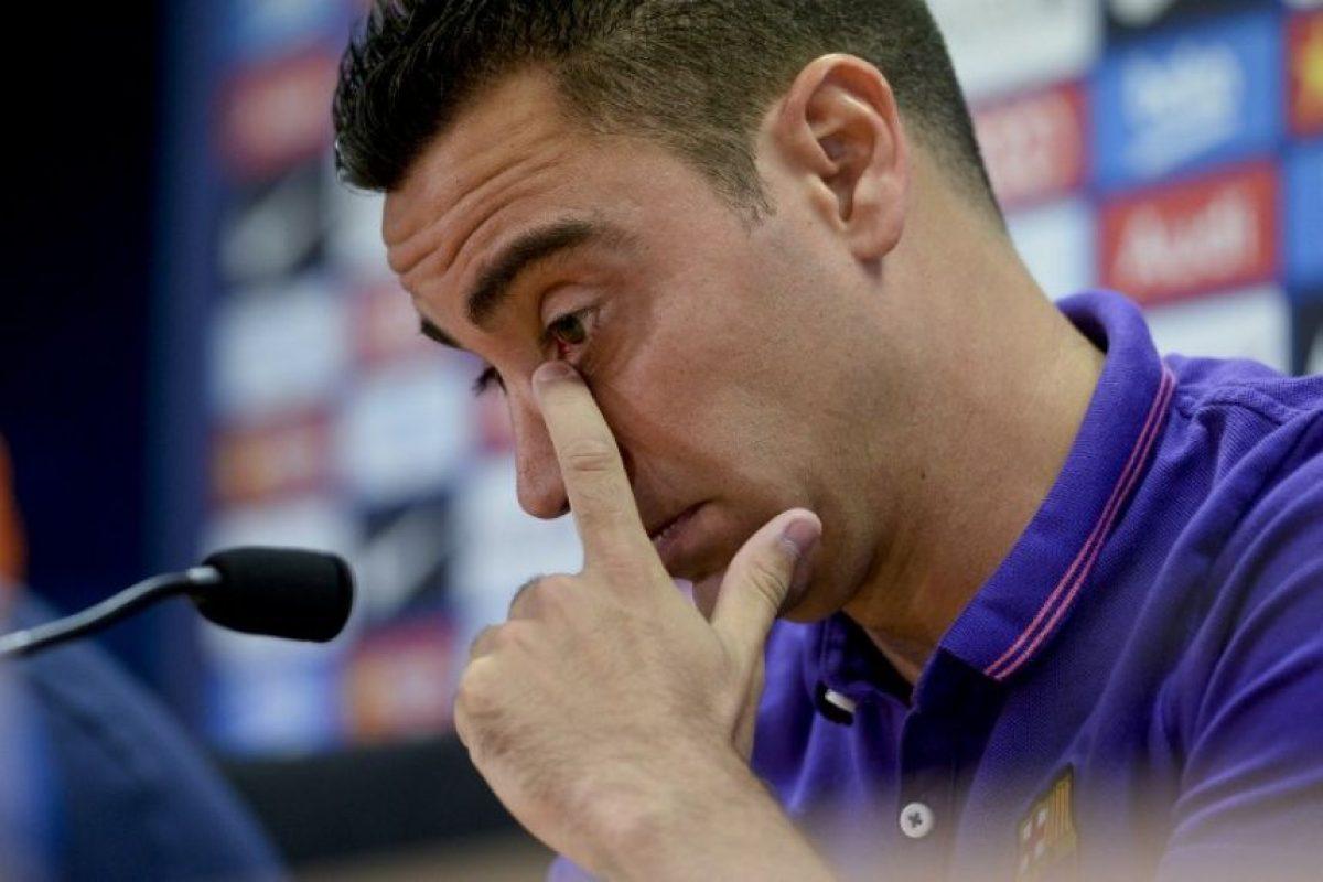 Miren las imágenes más conmovedoras de la rueda de prensa de Xavi Foto:AFP