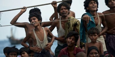 Migrantes en Tailandia. Foto:AFP