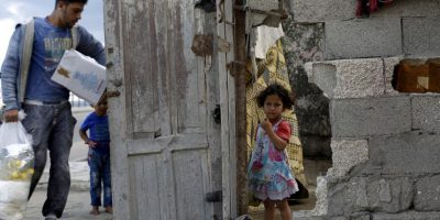 Refugiados en Gaza. Foto:AFP