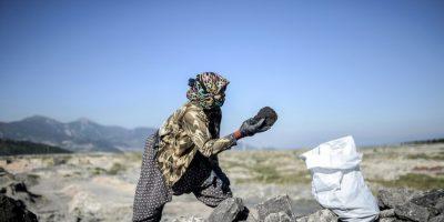 Conmemoración del primer aniversario de la muerte de 301 mineros en Turquía. Foto:AFP