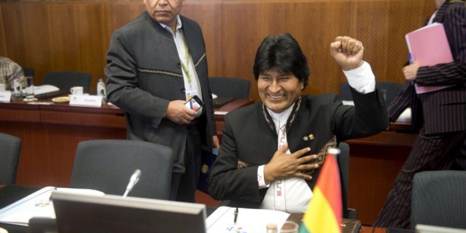 5. Es el tercer mandatario boliviano elegido por mayoría absoluta con el 54% Foto:AFP