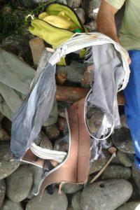 Este día se encontraron restos de una maleta Foto:AFP