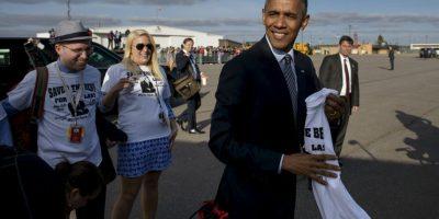 El presidente solo fue de viaje relampago a Dakota del Sur. Foto:AFP