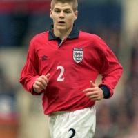 Gerrard en el 2000 con la Selección inglesa. Foto:Getty Images