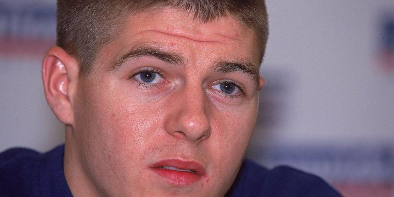 Steven Gerrard en el año 2000. Foto:Getty Images