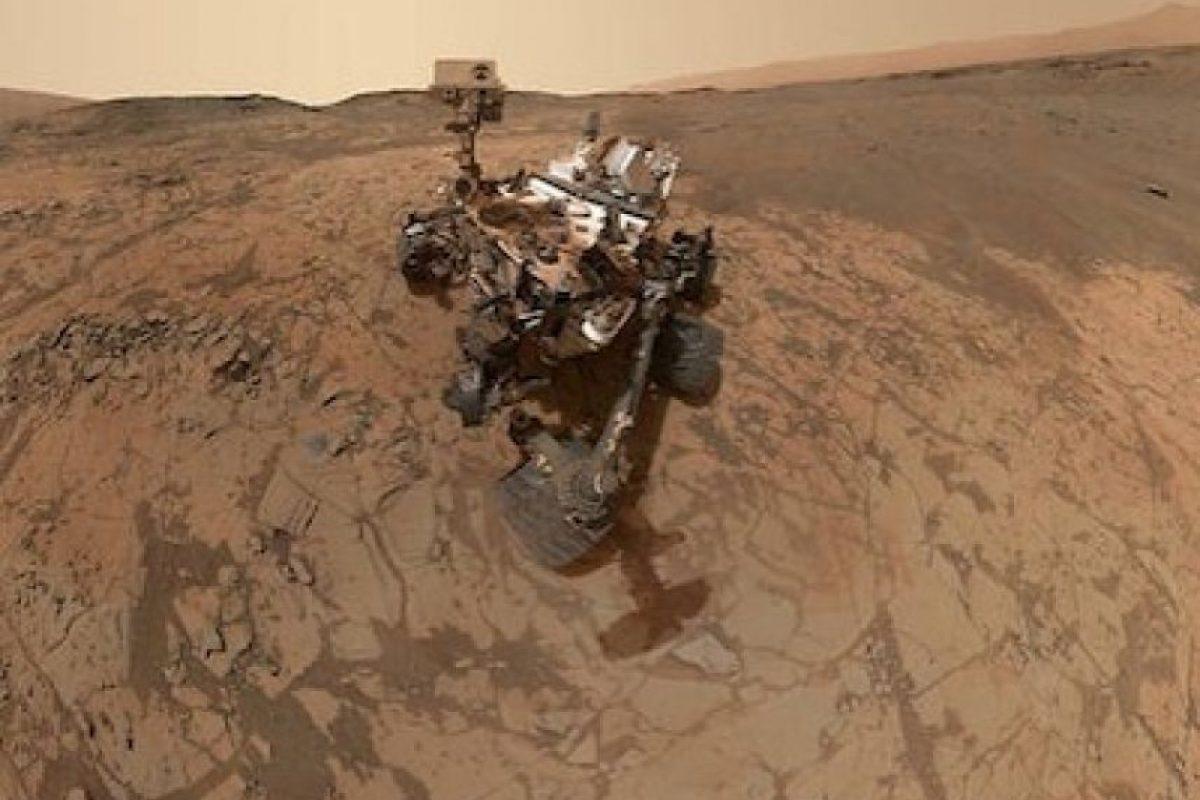 Un selfie tomado por el robot Curiosity en Marte. Mañana cumple tres años en la superficie del planeta rojo Foto:Instagram.com/NASA