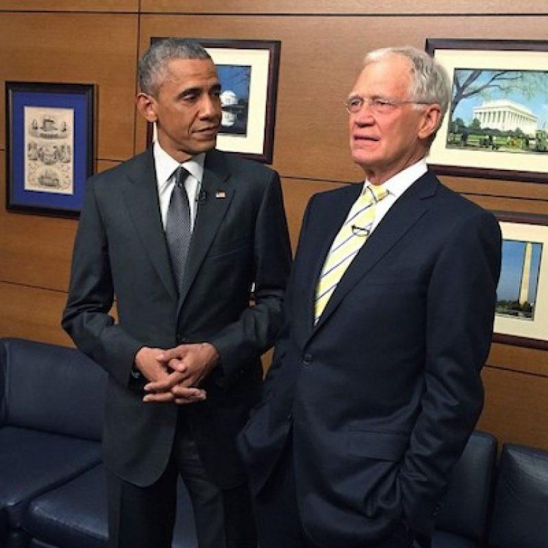 Con el presentador David Letterman, en uno de sus últimos programas Foto:Instagram.com/PeteSouza