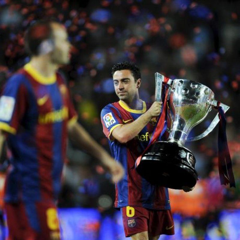 Con su octava Liga de España recién ganada, Xavi Hernández llegó a 28 trofeos, y podría sumar más esta temporada si el Barcelona gana Copa del Rey y Champions. También tiene 1 Mundial y 2 Eurocopas con la selección de España. Foto:Getty Images