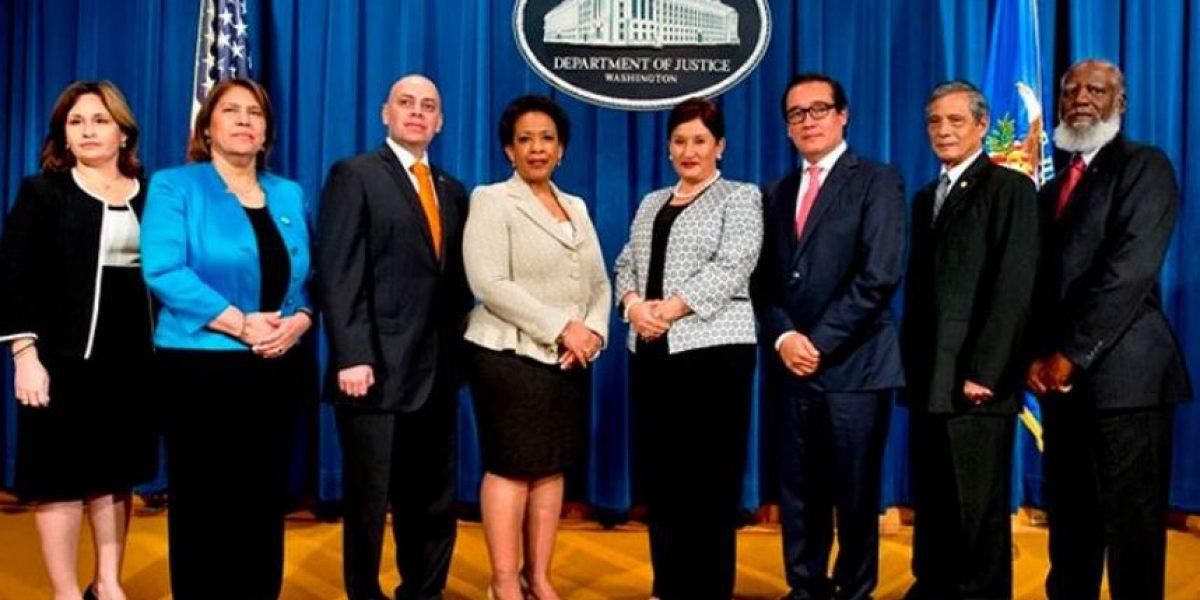 Fiscal general Thelma Aldana se reúne junto con sus homólogos centroamericanos en Estados Unidos