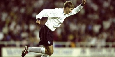 Steven con la Selección inglesa en 1999. Foto:Getty Images