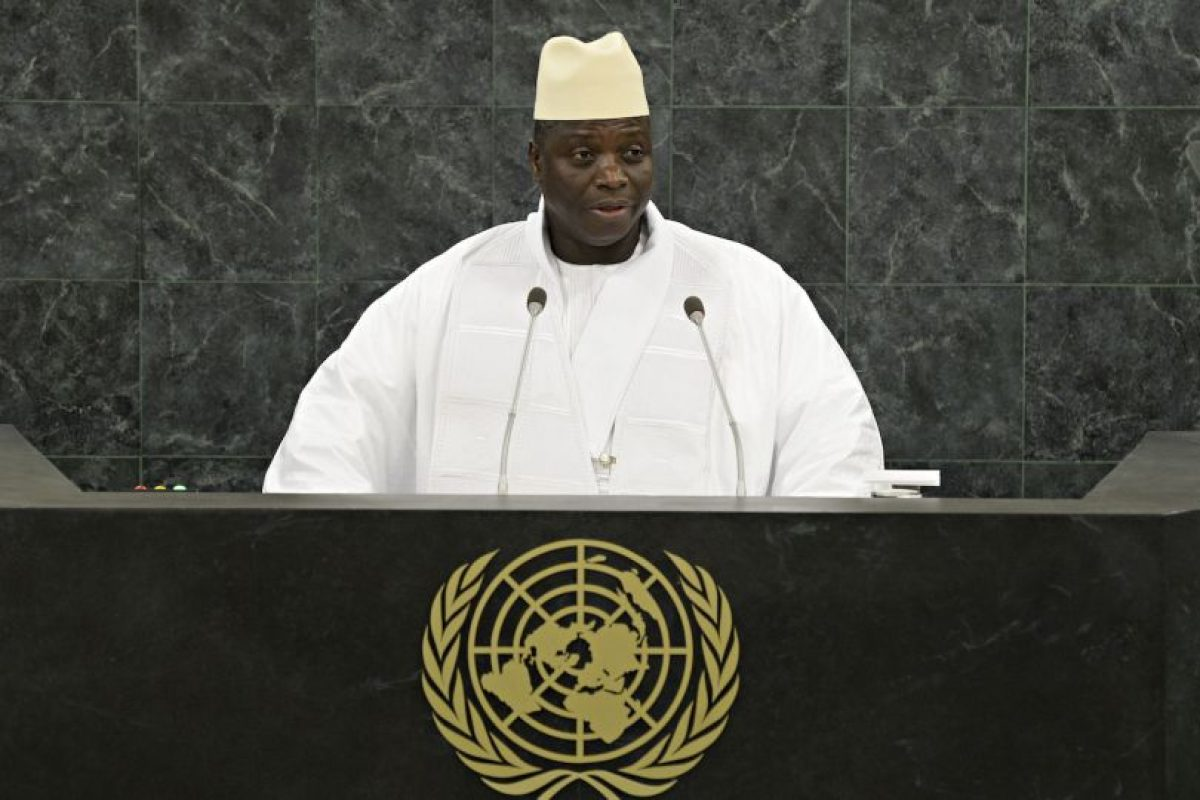 El presidente Yahya Jammeh llegó al poder tras un golpe de Estado hace ya 21 años. Foto:Getty Images