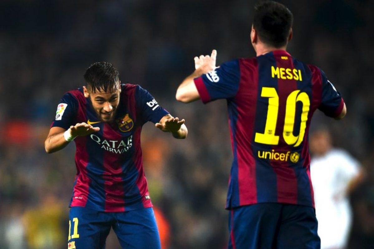 Lionel Mess y Neymar juegan juntos desde 2013, año en que el brasileño llegó a Barcelona. Foto:Getty Images