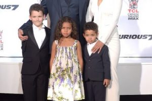 Vin es padre de Haniea Riley, Vincent Sinclair y Pauline Sinclair Foto:Getty Images