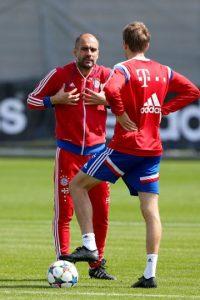 Hubo gritos entre ambos en un entrenamiento del Bayern Munich. Foto:Getty Images