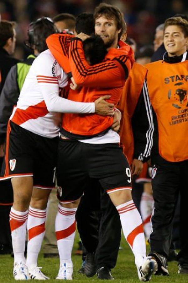 """En el duelo de ida, jugado en el """"Monumental"""", River Plate se impuso por la mínima diferencia gracias a un penal convertido por Carlos Sánchez. Foto:Getty Images"""