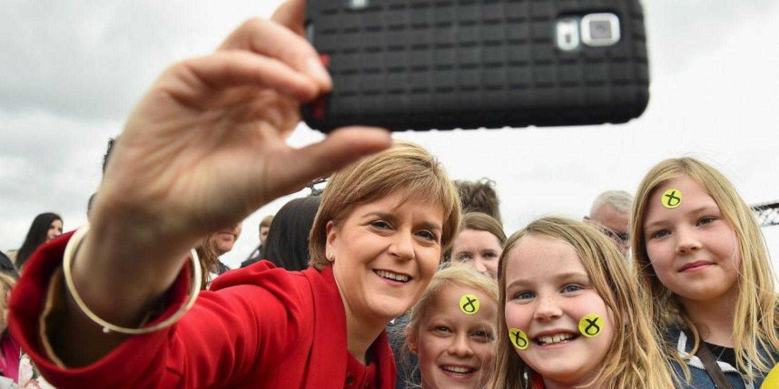 Nicola Sturgeon, líder del Partido Nacional de Escocia en Reino Unido Foto:Getty Images