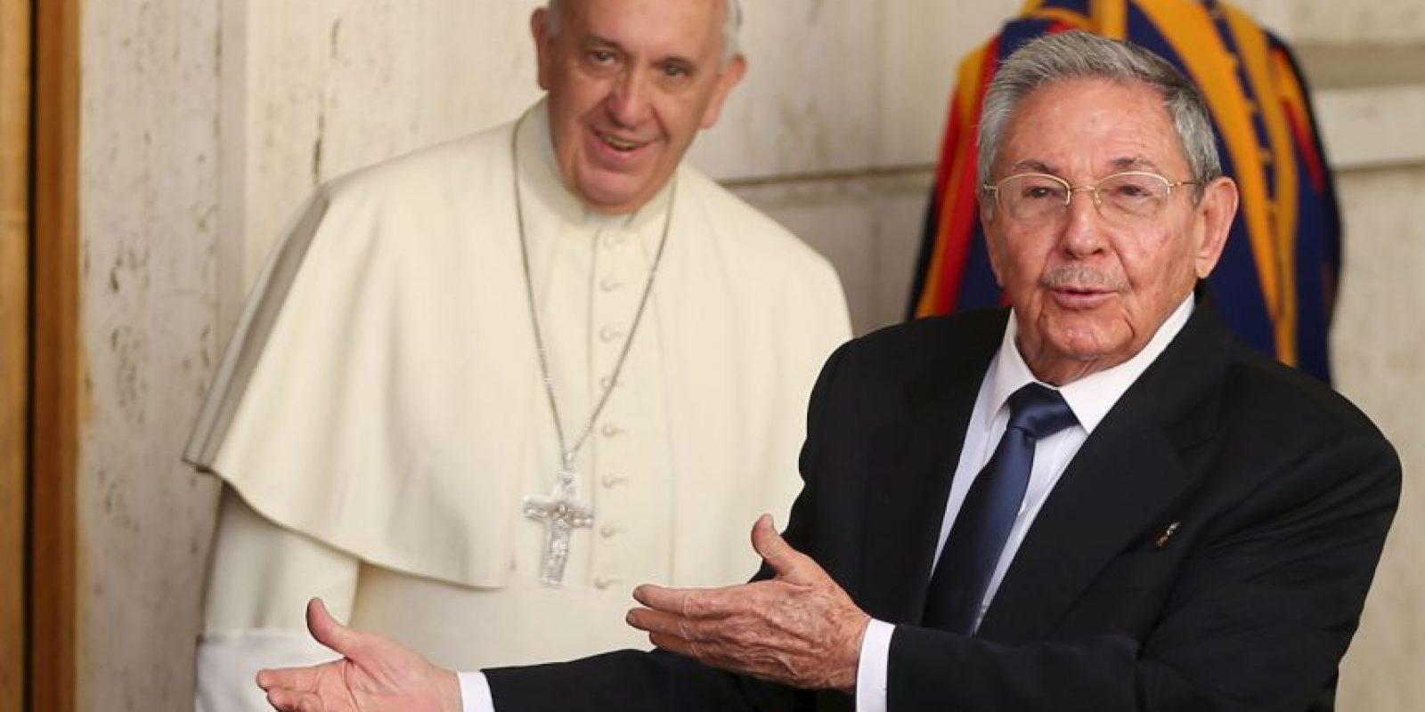 Castro agradeció personalmente el interés del papa sobre la situación Cuba-Estados Unidos Foto:Getty Images