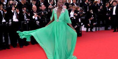 Lupita Nyong'o sabe que el verde es su color y lo elige para el glamour de Cannes Foto:Getty Images