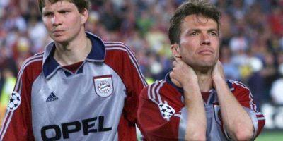 """El crack alemán, que ganó el Mundial en 1990, vivió los primeros años de la Champions League (con el nuevo nombre y formato de competición) y se quedó a un paso de ganarla en 1999, cuando su Bayern Munich enfrentó al Manchester United, que remontó un 1-0 en contra para arrebatarles la """"Orejona"""". Matthäus se retiró en el 2000 y un año después, el Bayern ganó el ansiado trofeo. Foto:Getty Images"""