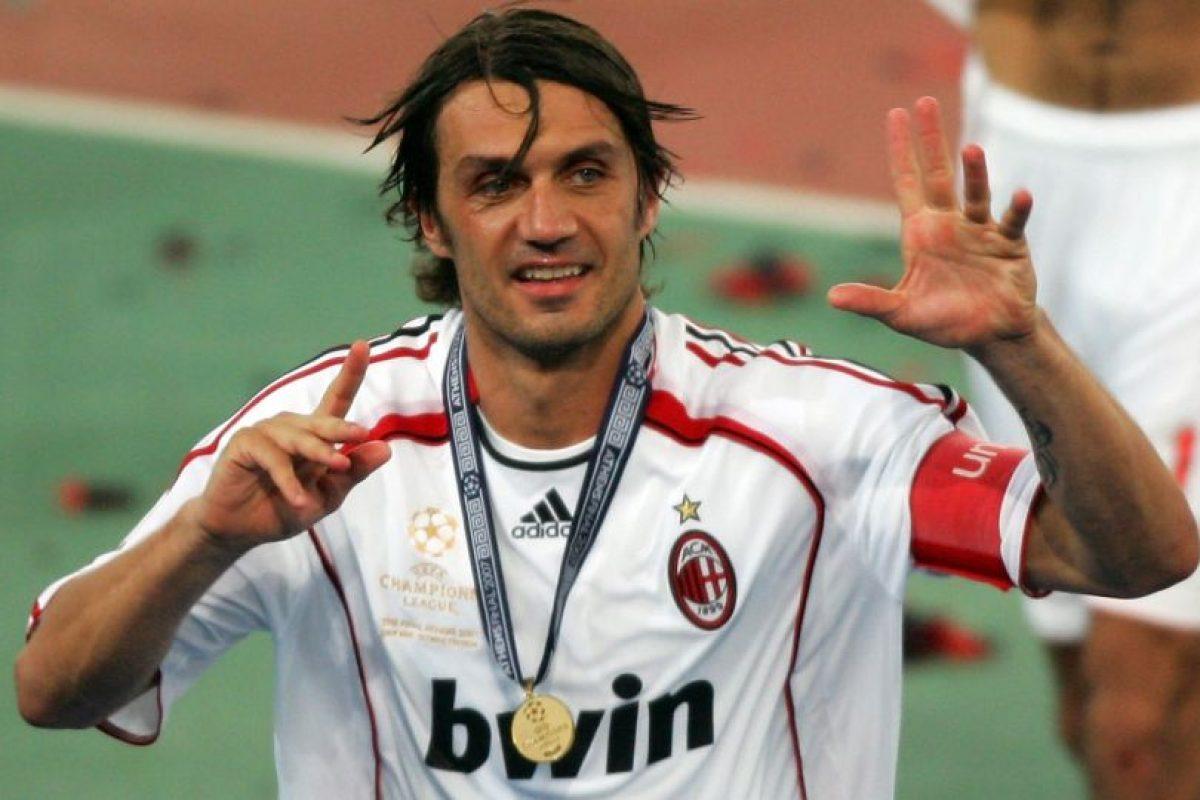10. Paolo Maldini – 26 títulos Foto:Getty Images