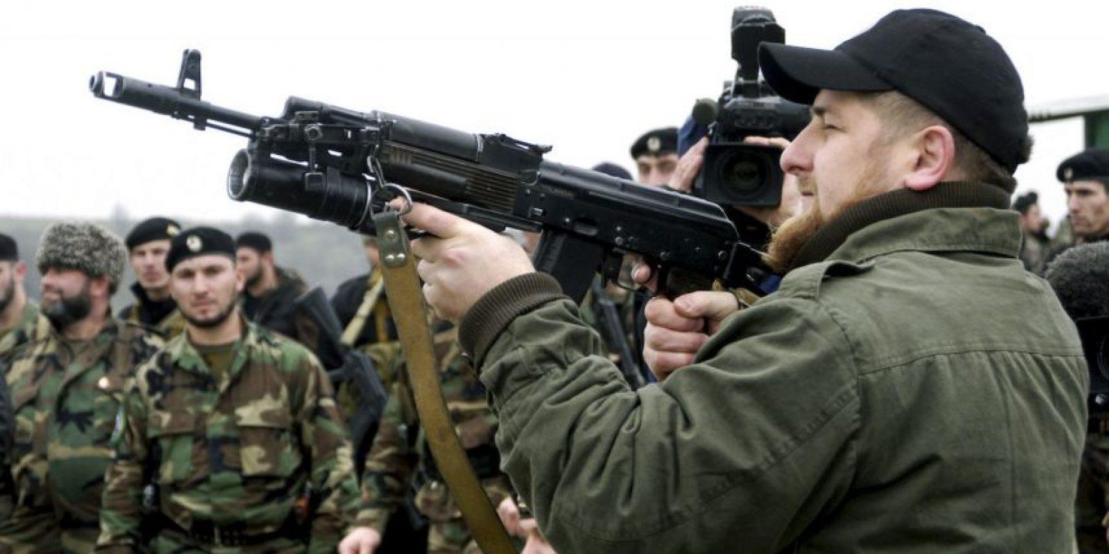 Ramzán Kadýrov es conocido especialmente porque comanda un ejército privado de tres mil hombres, llamados los kadýrovtsy Foto:Getty Images