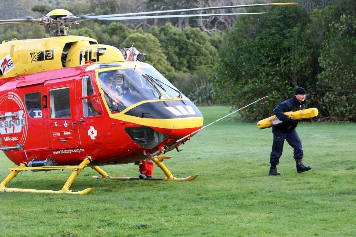 El equipo de rescate de Westpac encontro a O'Brien a un kilómetro y medio de Haurangi Hutt, en el valle de Orongorongo. Foto:Getty Images