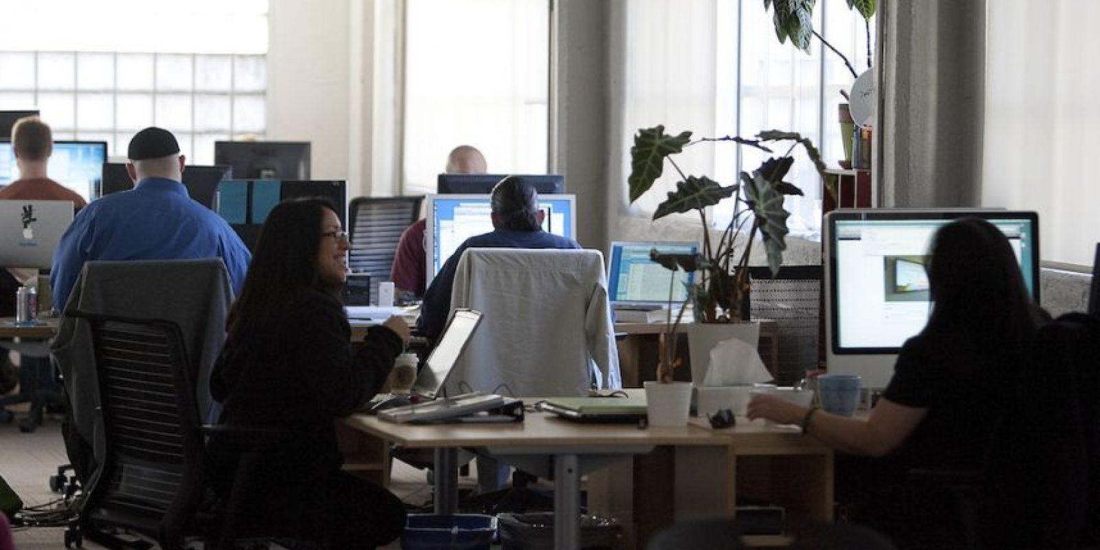 Así se trabaja en las oficinas de Twitter. Foto:Getty Images