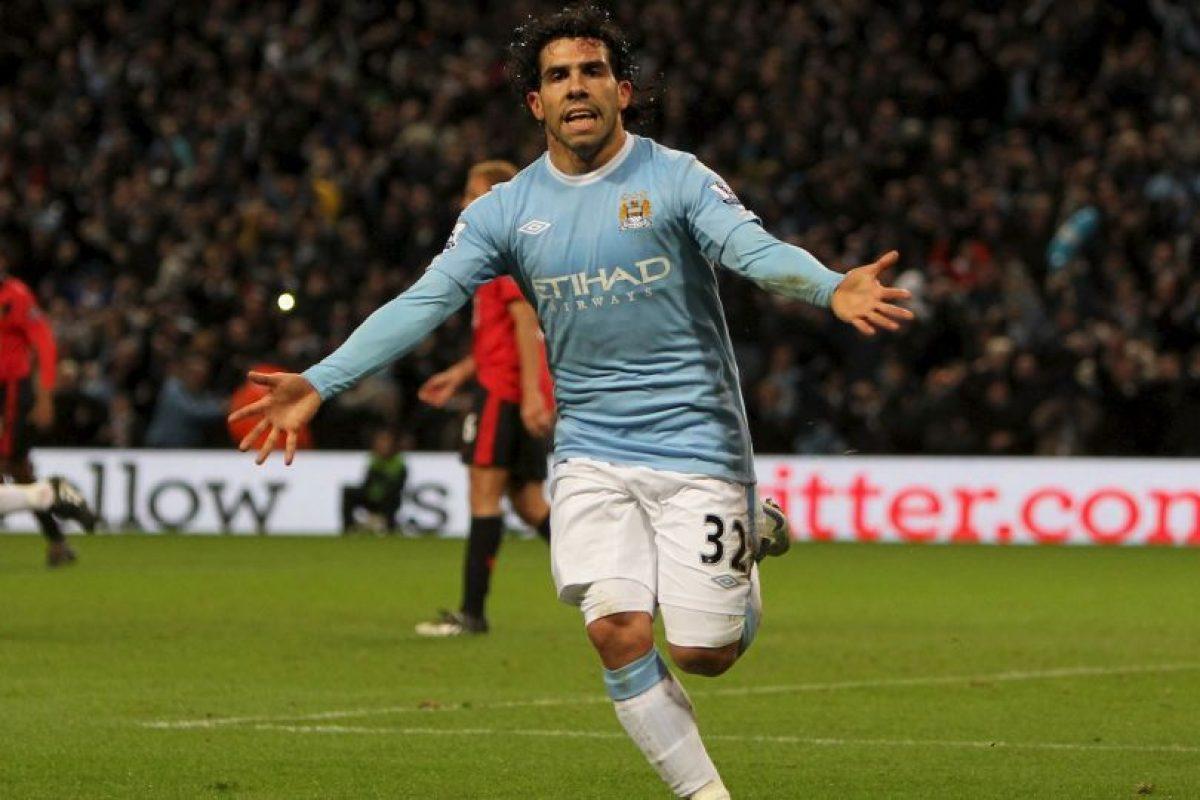 3. Carlos Tévez vs Manchester United Foto:Getty Images