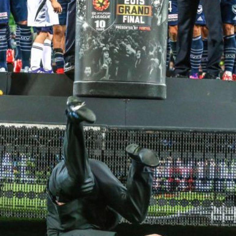 La caída de Lowy fue algo que captó la atención luego del partido de cierre de la temporada. Foto:Publinews