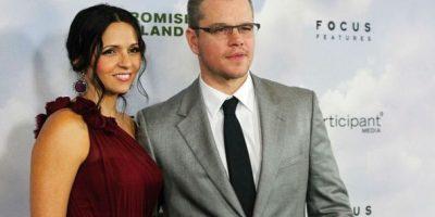 Matt Damon y Luciana Bozán Barroso