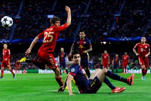 En las semis de la campaña 2012-2013, Bayern arrolló 7-0 a Barcelona. Los bávaros ganaron 4-0 en la ida y 3-0 en la vuelta Foto:Getty Images