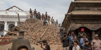 6. Lamjung, Nepal. 25 de abril. Magnitud 7.8. Este es el más fuerte de los últimos 30 días. Foto:Getty Images