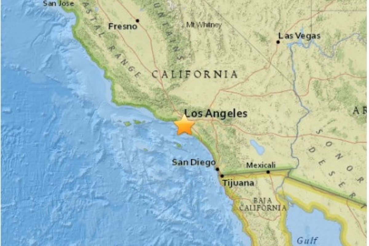 10. Carson, California. 30 de abril. Magnitud 3.4 Foto:Earthquake.usgs.gov