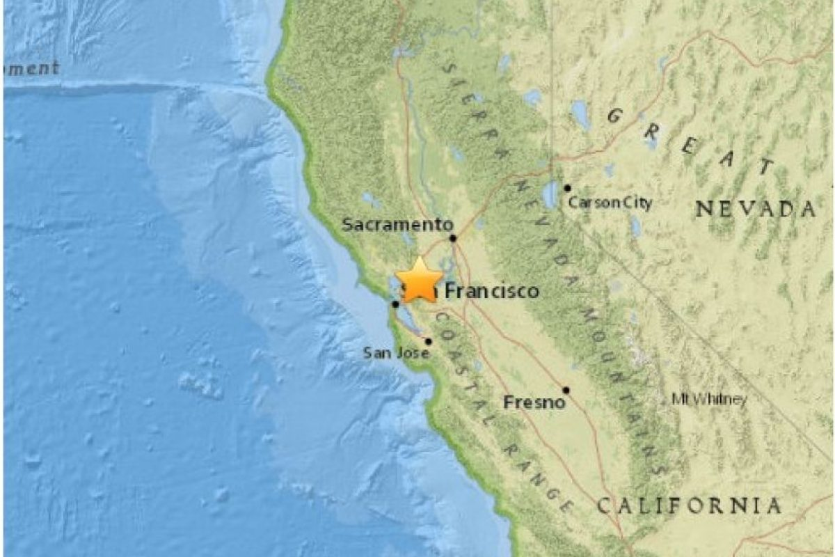 14. Concord, California. 3 de mayo. Magnitud 3.6 Foto:Earthquake.usgs.gov
