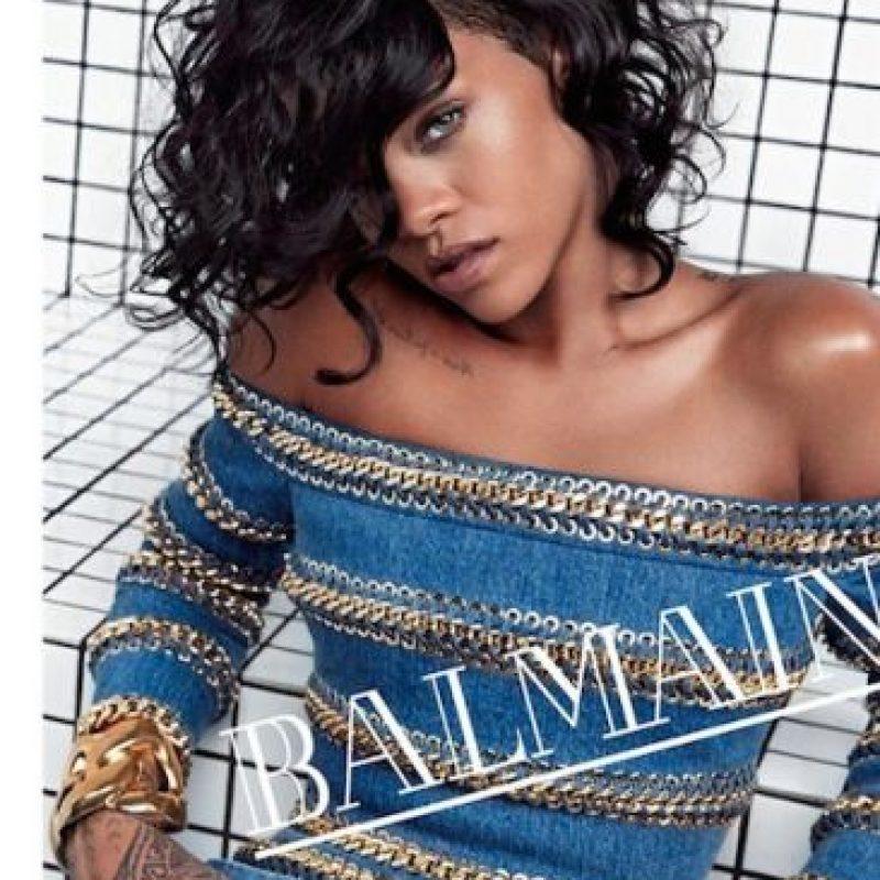 Rihanna fue la imagen de Balmain para su campaña primavera-verano en 2014 Foto:Balmain