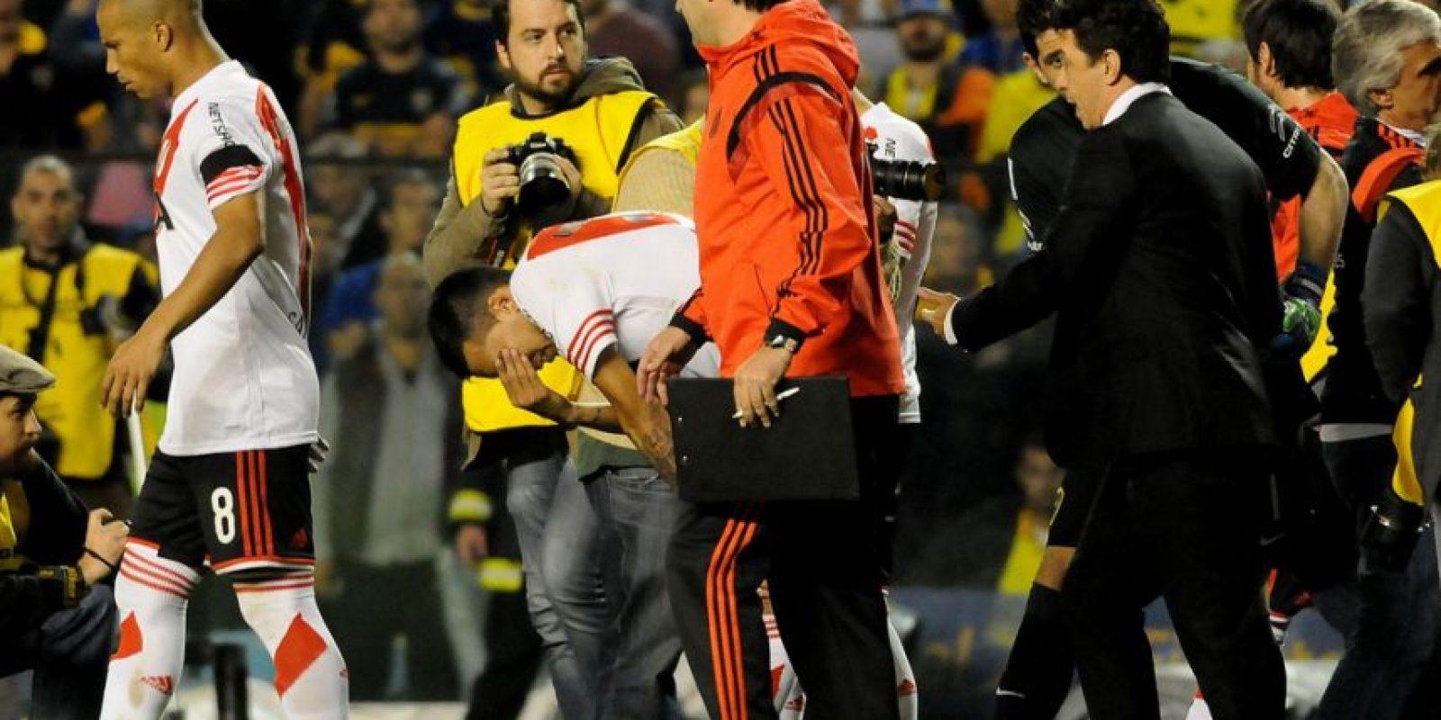 Se jugaban los octavos de final de la Copa Libertadores Foto:Getty Images
