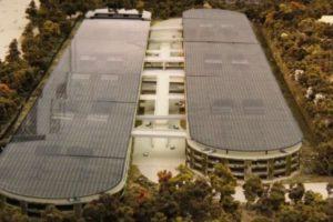 El complejo tendrá 80% espacios verdes maximizando los recursos naturales del área y la totalidad de la energía utilizada será solar Foto:Apple