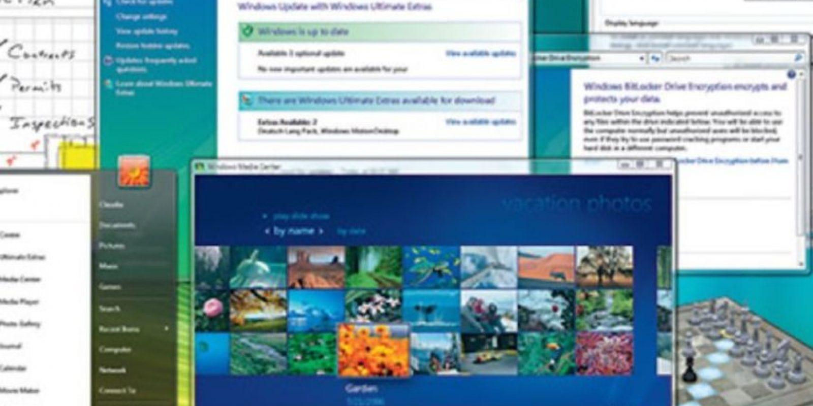 En el año 2006, Microsoft anunció la llegada del Windows Vista. Así es como lucía la interfaz. Foto:Vía windows.microsoft.com