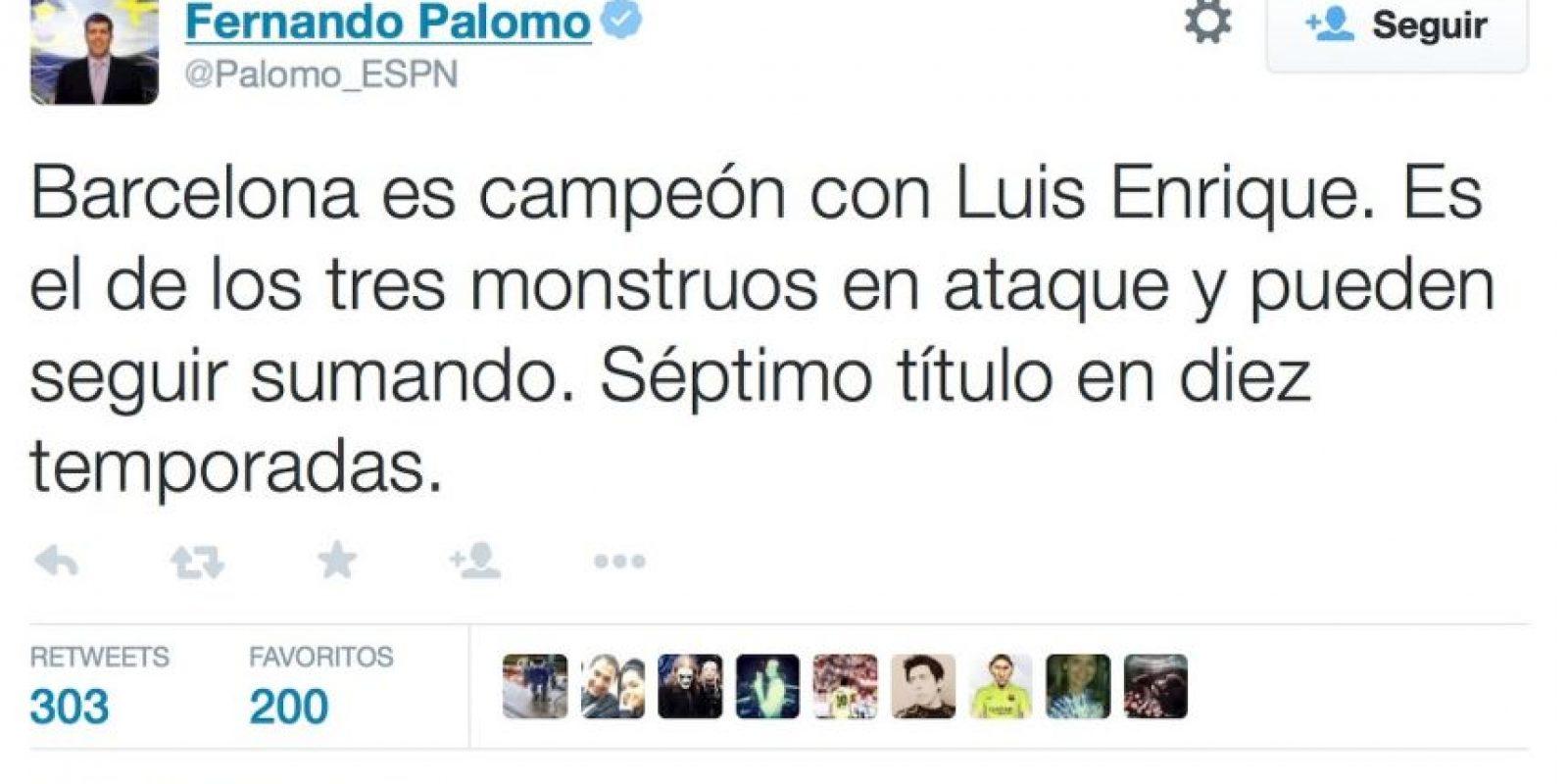 Foto:twitter.com/Palomo_ESPN