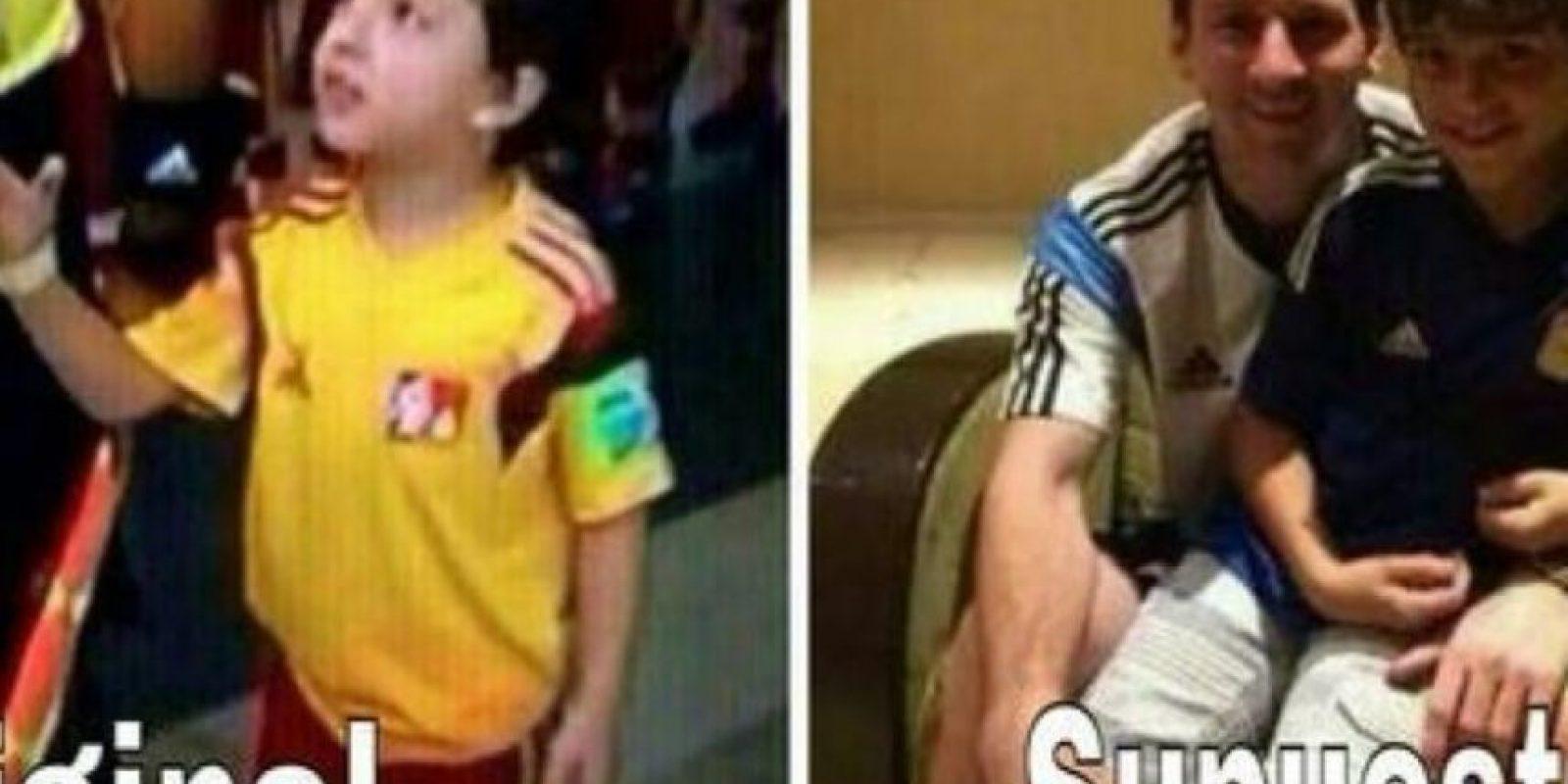 Después circuló una foto con el niño, pero en realidad se trataba del hijo de Deco. Foto:Twitter