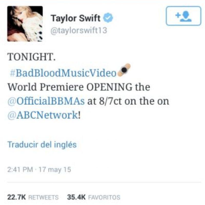El nuevo video musical Taylor Swift tiene su propio emoji. Foto:Twitter