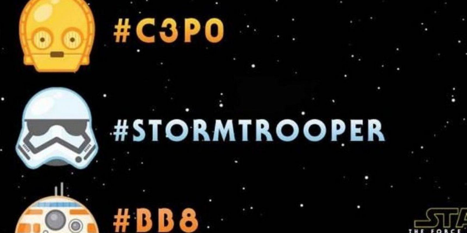 """Los robots de """"Star Wars"""" también tienen sus emojis. Foto:Twitter"""