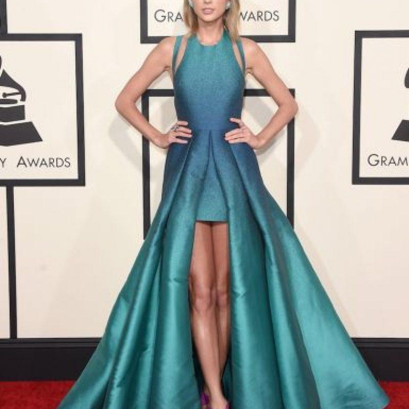 La cantante y sus largas piernas se llevaron el 3.5% de los votos. Foto:Getty Images