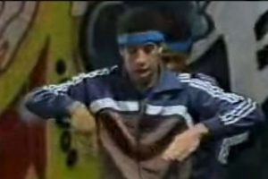 Así lucía el actor en su época como bailarín de breakdance Foto:YouTube
