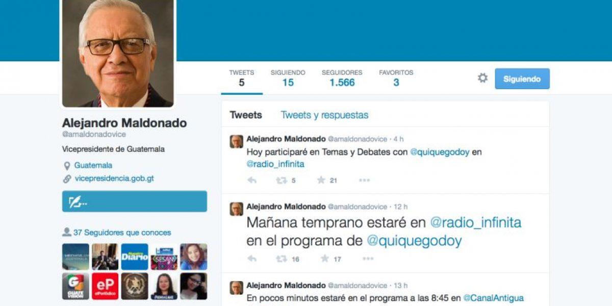 Nuevo vicepresidente ya tiene cuenta de Twitter