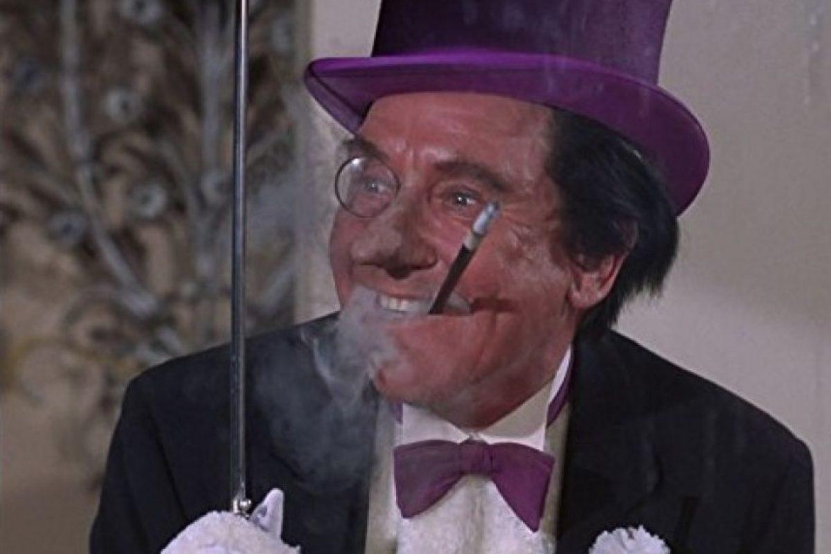 """En la serie """"Batman"""" de los años 60, Burgess Meredith interpretó a uno de los personajes más odiados en el universo de DC Comics y también uno de los villanos más peligrosos. Foto:IMDB"""
