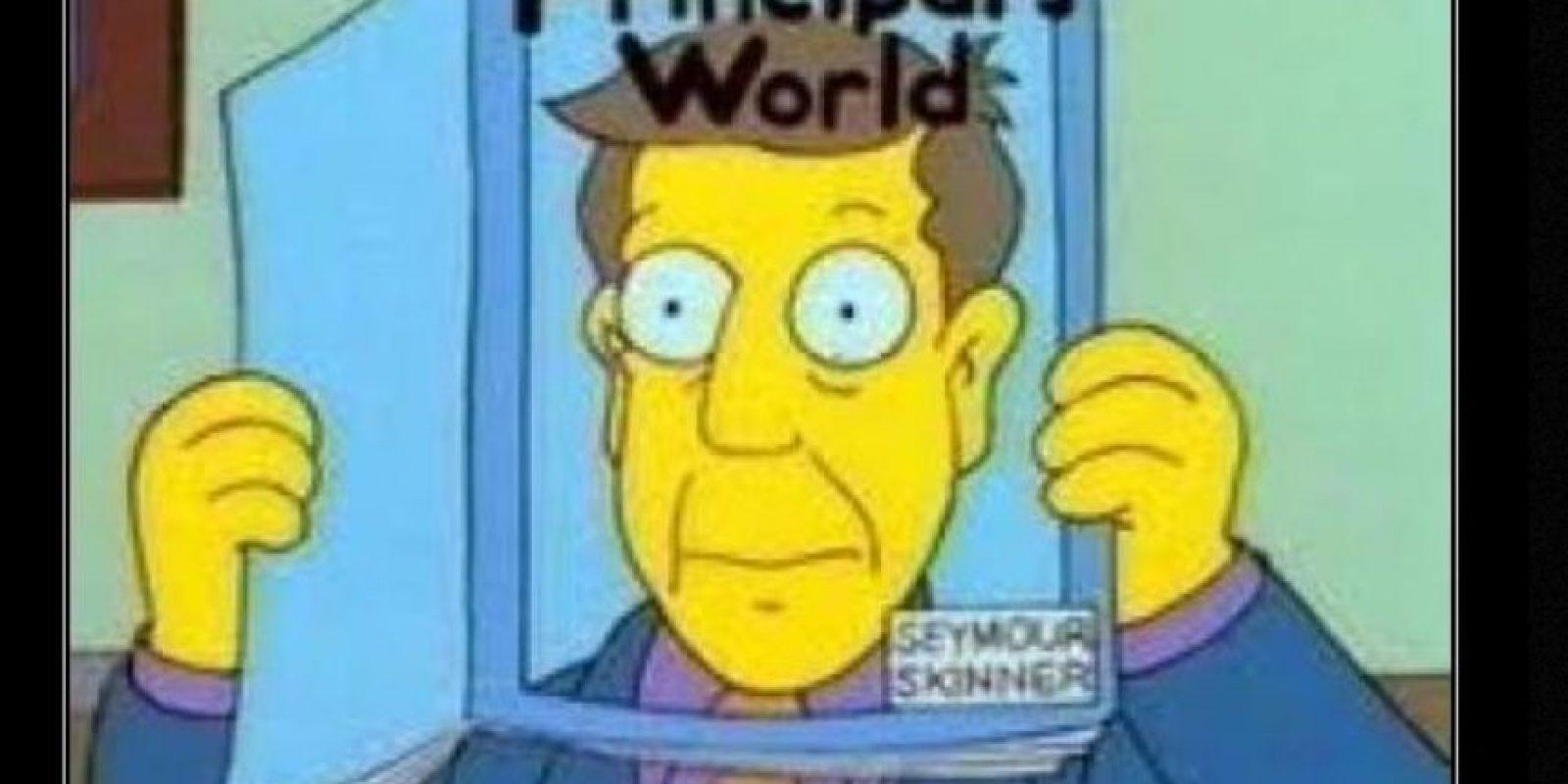 """""""Director Skinner"""" Foto:vía desmotivaciones.es"""