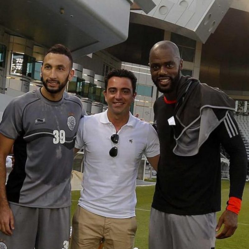 Después de la conferenica en la que Xavi Hernández confirmó su salida del Barça, el combinado catarí festejó a su nuevo fichaje Foto:Vía twitter.com/AlsaddSC