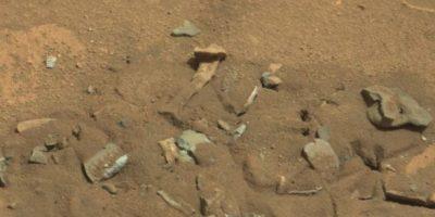 Se descubrió en agosto de 2014 Foto: NASA -Foto original en http://mars.jpl.nasa.gov/msl-raw-images/msss/00719/mcam/0719MR0030550060402769E01_DXXX.jpg