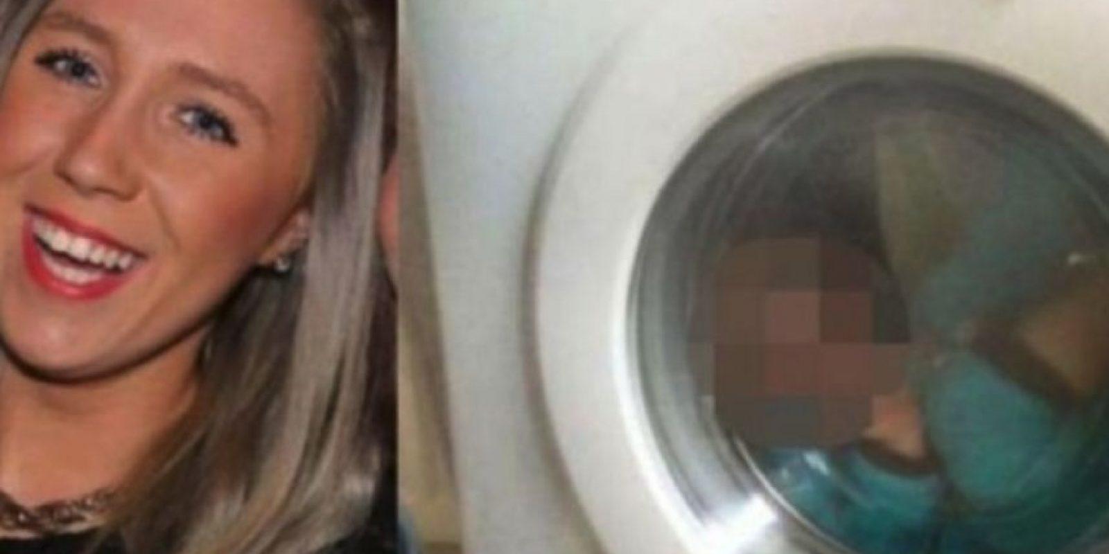 a escocesa Courtney Stewart, de 21 fue denunciada con la policía por una foto de su bebé de dos año encerrado dentro de una lavadora Foto:Facebook/CourtneyStewart